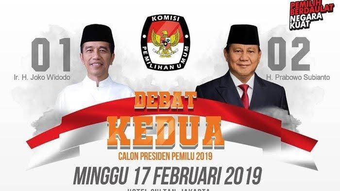 Live Debat kedua Pilpres 2019.
