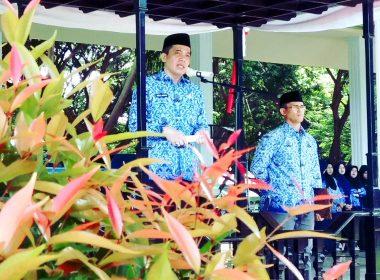 Sekda Bantaeng sampaikan amanat saat jadi Irup memperingati Hari Kesadaran Nasional.