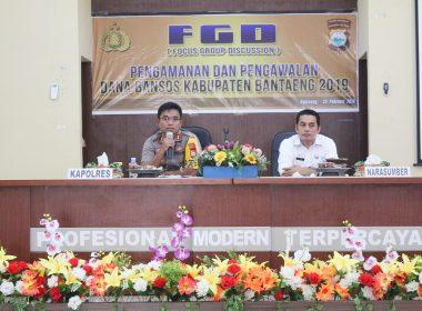 Polres Bantaeng inisiasi FGD Bansos 2019 dengan menghadirkan seluruh pihak terkait.