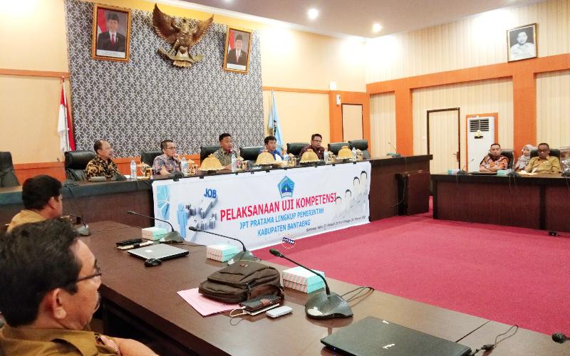 Jelang Mutasi dan Rotasi lingkup Pemkab Bantaeng, 16 pejabat ikuti uji kompetensi.