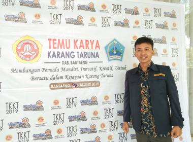 Ahmad Yani maju mencalonkan diri sebagai Ketua Karang Taruna Kabupaten Bantaeng (28/02/2019).