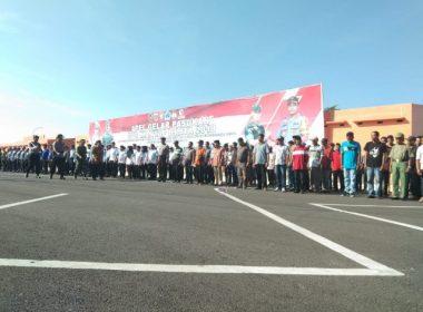 Kapolres Bantaeng dan Dandim 1410 Bantaeng jadi Irup pada Apel Gelar Pasukan Ops Mantap Brata 2018.