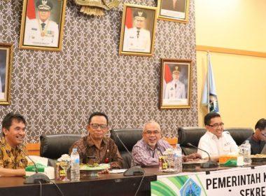 Pembukaan Sosialisasi Pengadaan Barang dan Jasa di Ruang Pola Kantor Bupati Bantaeng (14/03/2019).