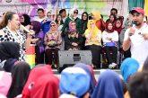 Aty Kodong dan Liestiaty F Nurdin satu panggung di gelaran MRSF Selayar.