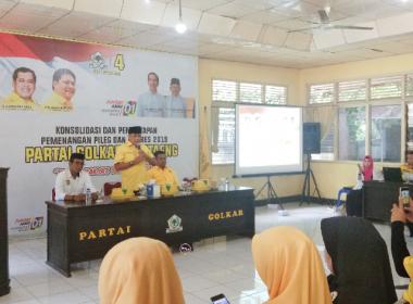 Konsolidasi Partai Golkar bersama NH di Gedung Sekretariat Partai Golkar Bantaeng (28/02/2019).
