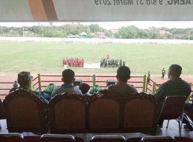 Turnamen Bola Bantaeng Selatan Cup Usia 40 dibuka secara resmi Bupati Bantaeng (09/03/2019).