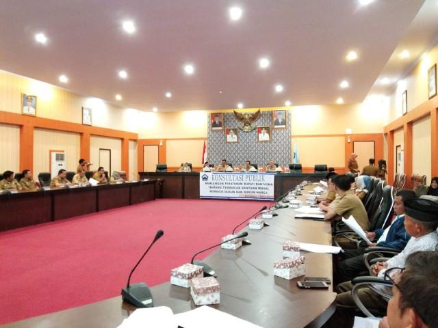 Konsultasi Publik Ranperbup Bantaeng tentang Bantuan Modal Berbasis Dusun dan RW.