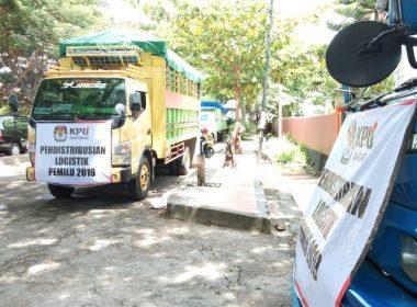 Pelepasan distribusi Logistik Pemilu 2019 tingkat Kabupaten Bantaeng.