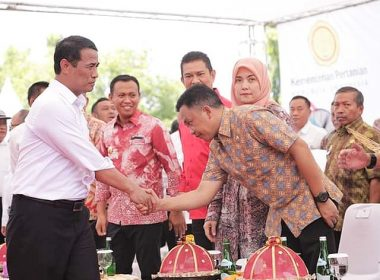 Bupati Bantaeng menghadiri Kunjungan Kerja Menteri Pertanian RI di Takalar.
