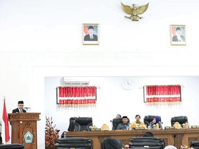 Sidang Paripurna DPRD Bantaeng tentang LKPJ Bupati dan Wakil Bupati Bantaeng Tahun 2018.