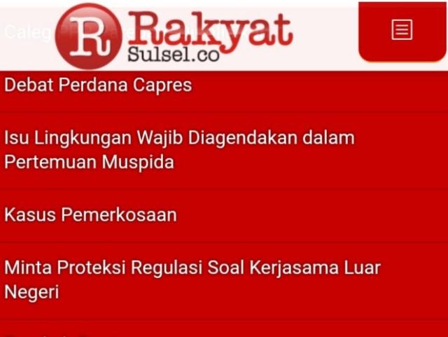 Tampilan portal Rakyat Sulsel.