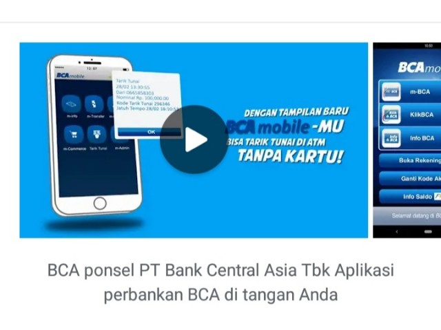Aplikasi BCA Mobile.