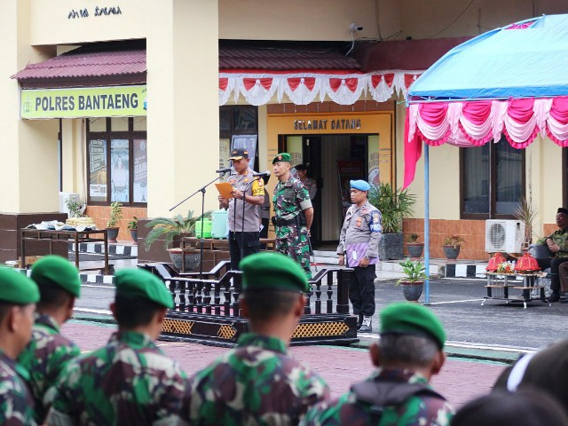 Apel Konsolidasi Ops Ketupat Polres Bantaeng.
