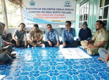 Pertemuan Pokja Kampung KB Desa Bonto Tallasa.