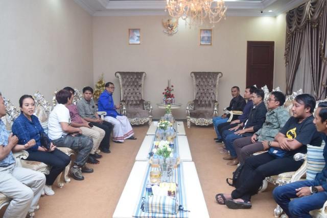 Kunjungan di Rujab Bupati Tator.