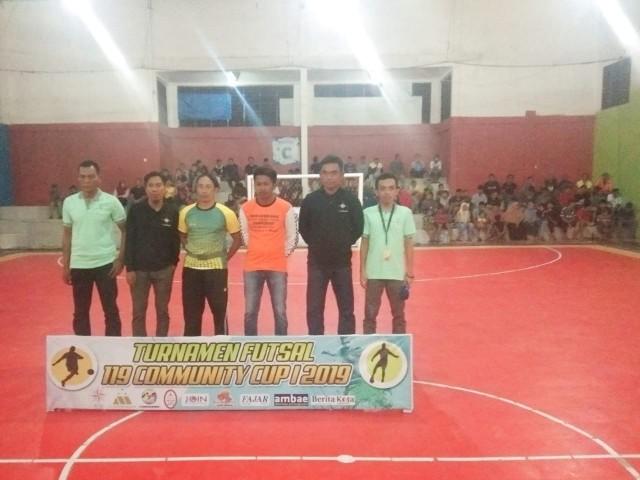 Pembukaan Turnamen Futsal 119 Community Cup I 2019.