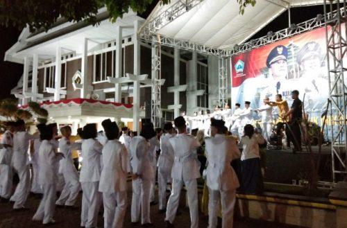 Malam ramah tamah HUT RI 74 di Kantor Bupati Bantaeng.