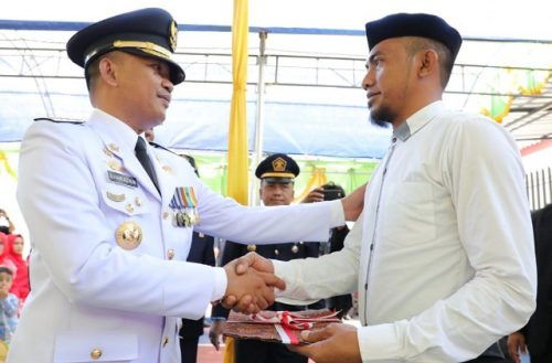 Proses penyerahan Remisi Umum Rutan Klas IIB Bantaeng.