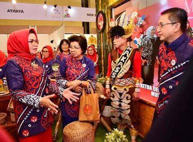 Pembukaan Musyawarah dan Rakerda Dekrnasda SulSel.