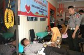 Satuan Lantas Polres Bantaeng gelar donor darah.