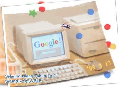 Ucapan ulang tahun kepada Google.