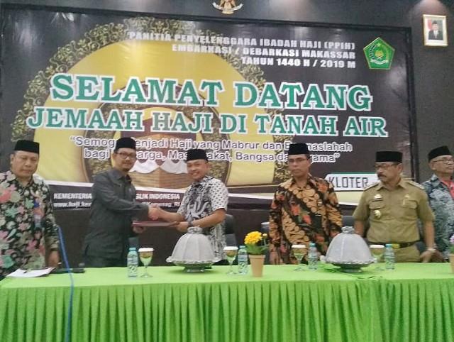Penyambutan Jama'ah Haji Bantaeng.