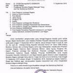 Surat perintah pengibaran bendera untuk BJ Habibie.
