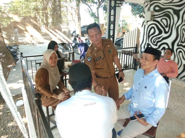 Humas dan Kominfo Bantaeng silaturahmi dengan Jurnalis.