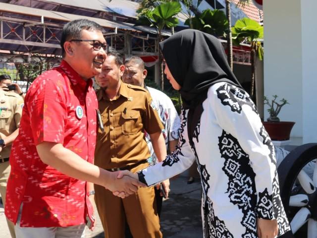 Penyambutan Tim Verlap Kabupaten Sehat.