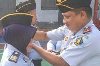 Upacara kenaikan pangkat pegawai Rutan Klas IIB Bantaeng.