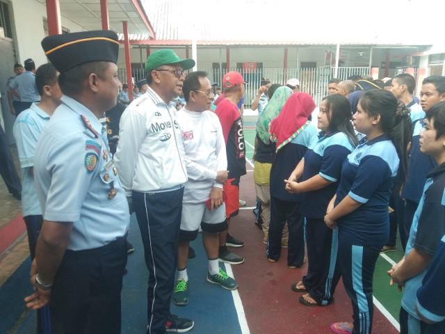 Kunjungan Nurdin Abdullah di Rutan Klas IIB Bantaeng.