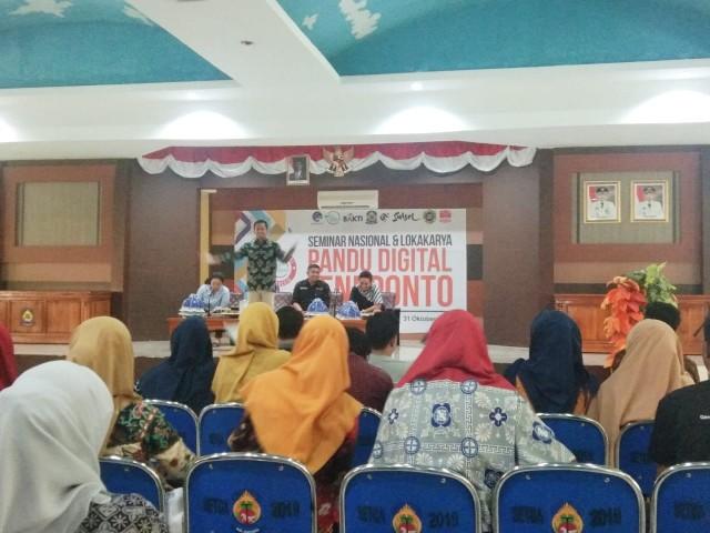 Kegiatan Seminar Nasional dan Lokakarya Pandu Digital Indonesia.