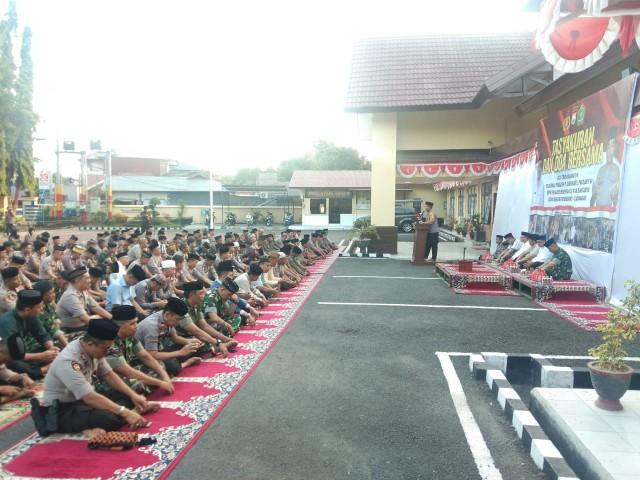 Gelaran Tasyakuran dan Do'a Bersama oleh Polres Bantaeng.