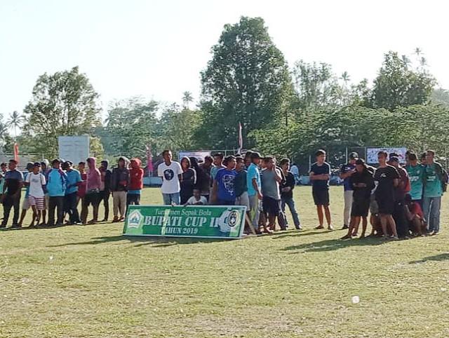 Pembukaan turnamen Bupati Cup II.
