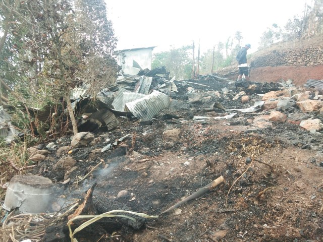 Musibah kebakaran di Bantaeng.