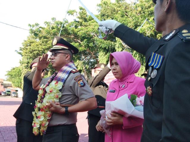 Penyambutan Kapolres Bantaeng yang baru.