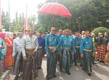 Arak-arakan menuju lokasi peringatan puncak Hari Jadi Bantaeng ke-765.