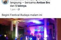 Musik dan gaya diskotik mewarnai Festival Budaya di Bantaeng.