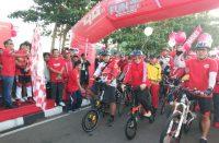 Telkomsel hadir dengan Fun Bike and Walk di Bantaeng.