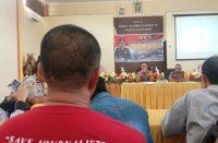 Konferensi Pers untuk kegiatan Press Release Akhir Tahun 2019 di Polres Bantaeng.