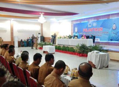 Pelantikan Ketua PKK Kecamatan di Bantaeng dilantik.