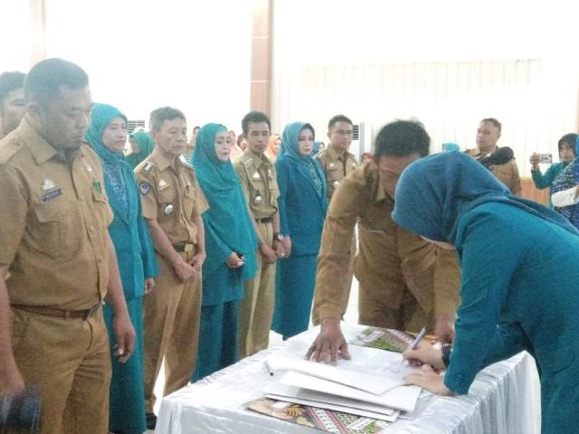 Ketua PKK Kecamatan di Bantaeng dilantik.
