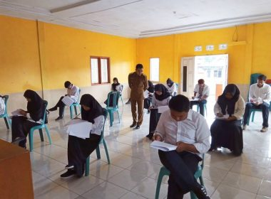 Seleksi tertulis Calon Perangkat Desa Bonto Tangnga.