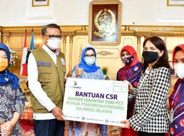 Penerimaan masker kain dari PT Bank SulSelBar.