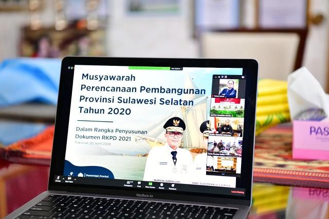 Video Conference Musrenbang SulSel.