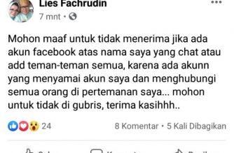 Akun Lies Fachrudin digandakan.