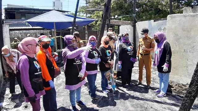 Mesin jahit untuk kebakaran Tammua Makassar.
