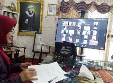 Vidcon Temu Wicara Ketua PKK SulSel dengan Puspita Milenial Takalar.