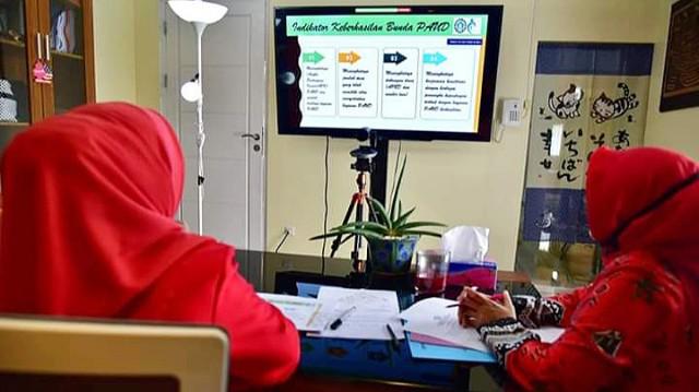 Online Meeting Bunda PAUD SulSel.