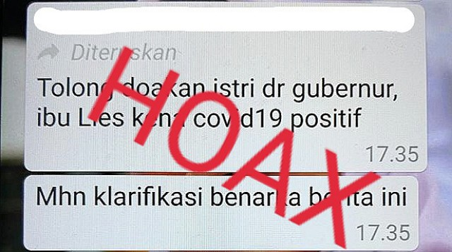 Berita hoax Liestiaty F Nurdin.